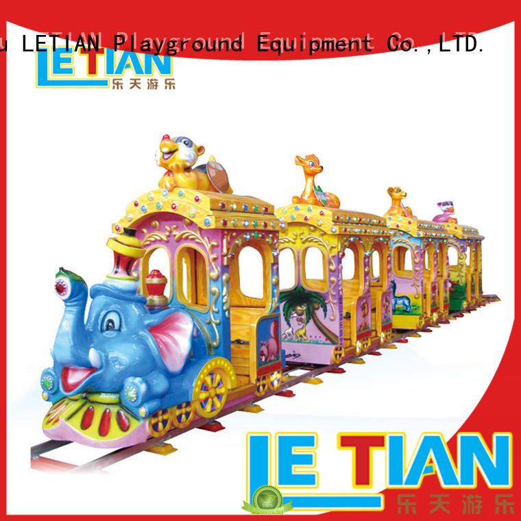 LETIAN mechanical amusement train rides for sale park playground