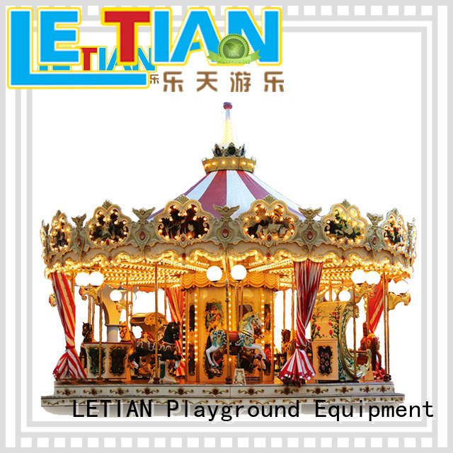 LETIAN colorful carousel kids for kids theme park