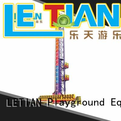 LETIAN professional sky drop tourist fairground