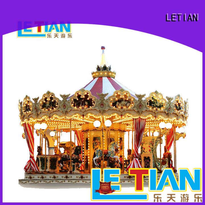LETIAN Wholesale mini carousel design shopping centers