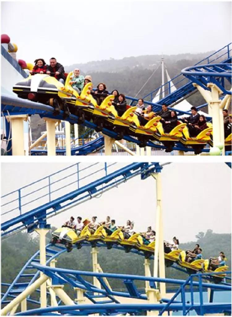 LETIAN beautiful roller coaster ride for kids theme park-2