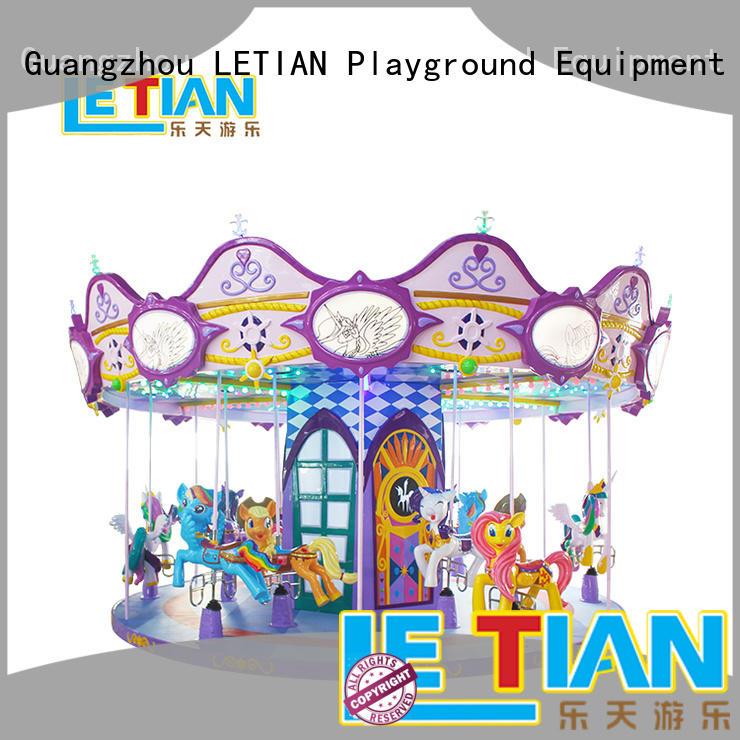 LETIAN 24 seats carousel horse for kids fairground