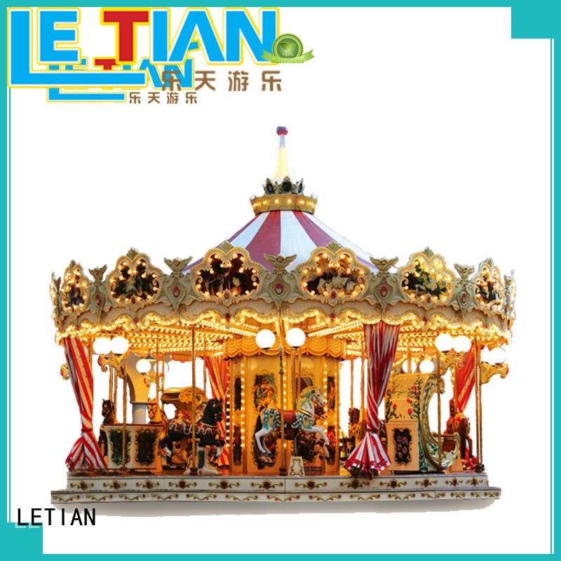 LETIAN 24 seats the childrens carousel supplier shopping centers