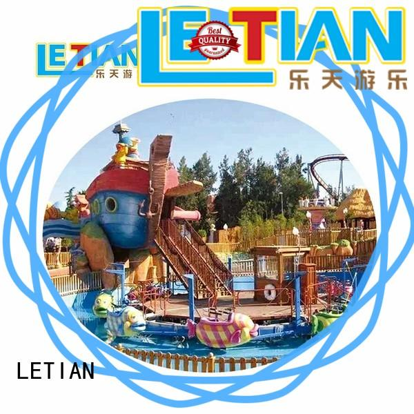 LETIAN beautiful roller coaster free for business playground
