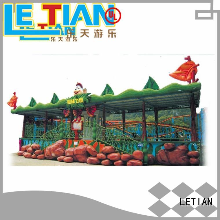 LETIAN safe roller coaster design for children playground