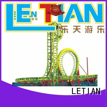 LETIAN overlapping roller coaster play games factory carnival