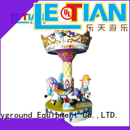 LETIAN deck mini carousel customized fairground