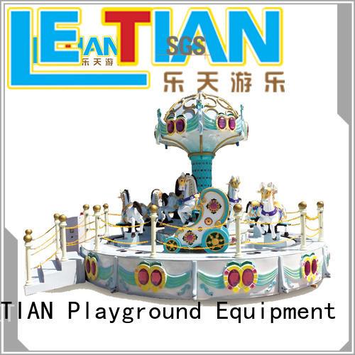 LETIAN seats mini carousel ride for sale customized fairground