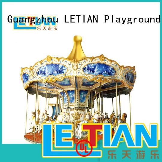LETIAN coin ride on carousel customized fairground