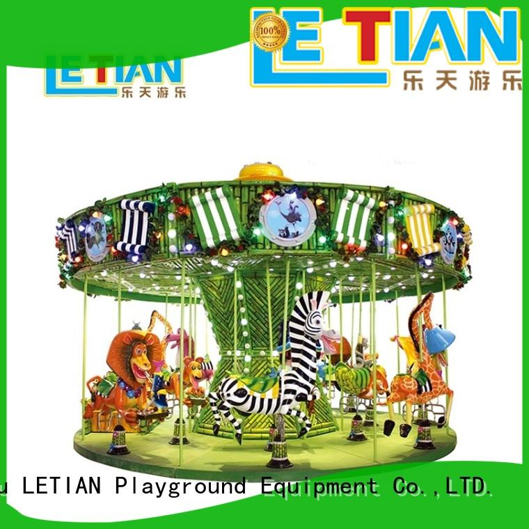 LETIAN mall childrens carousel customized theme park