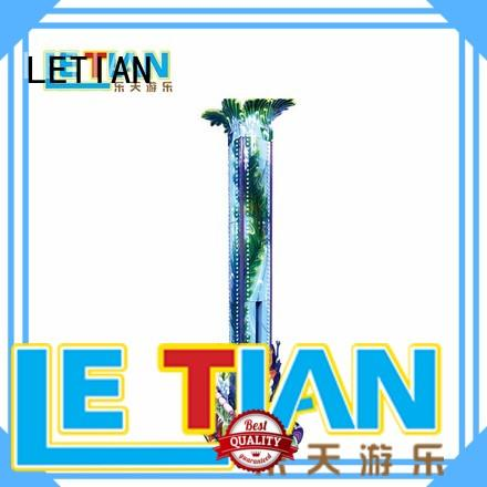 LETIAN safe sky drop ride for kids playground