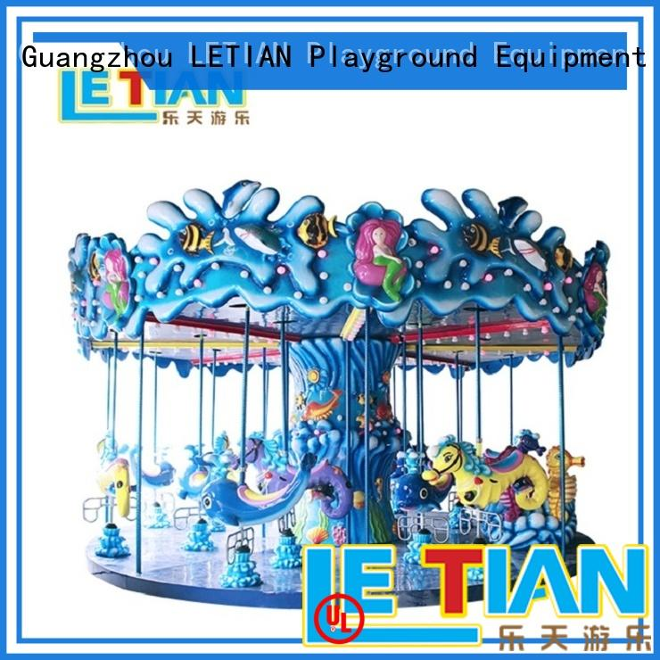 LETIAN merry ride on carousel design fairground