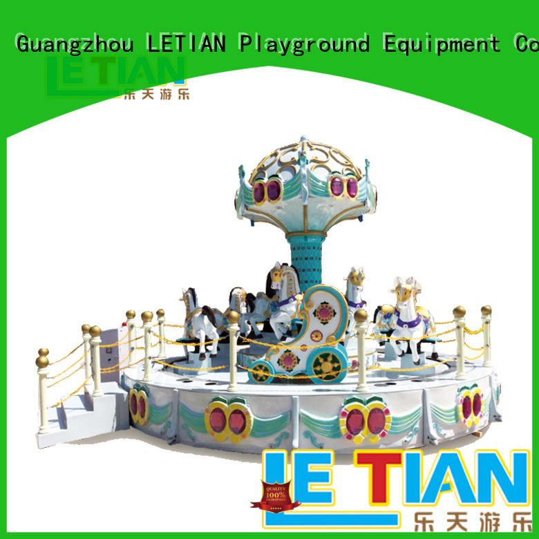 LETIAN durable carousel child rides carnival