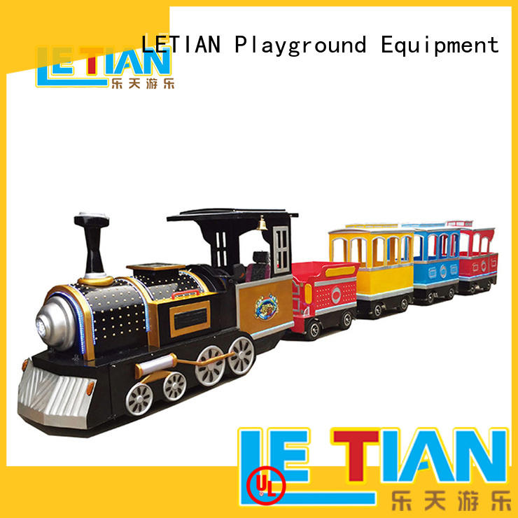 LETIAN jungle trackless train ride for business park playground