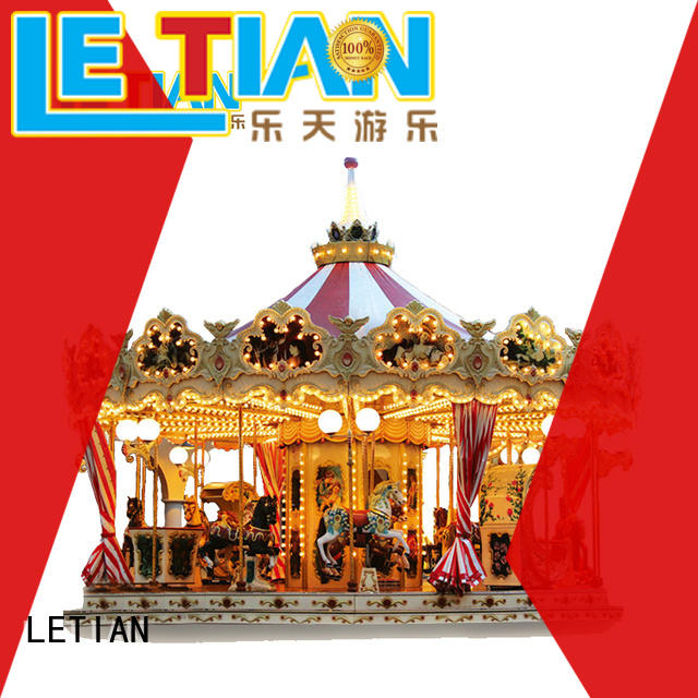 LETIAN 24 seats mini carousel supplier fairground