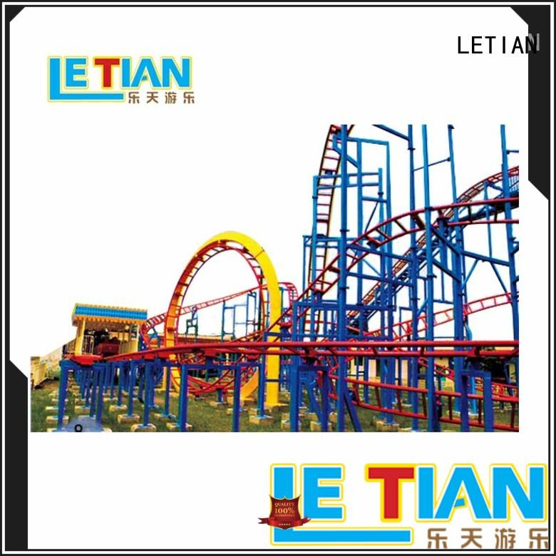 LETIAN rotating roller coaster design factory playground