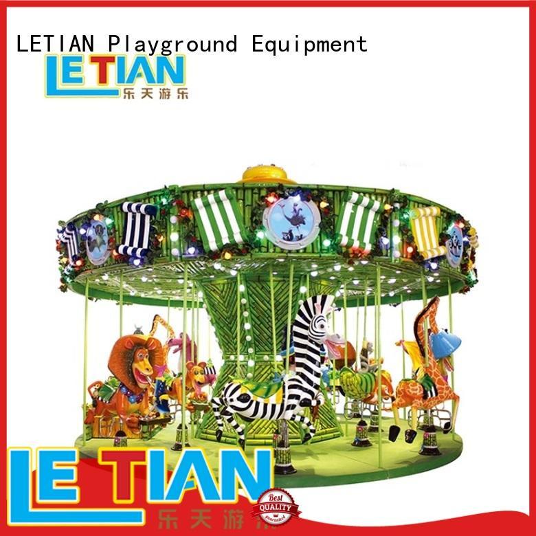 LETIAN lt7030a horse carousel ride theme park