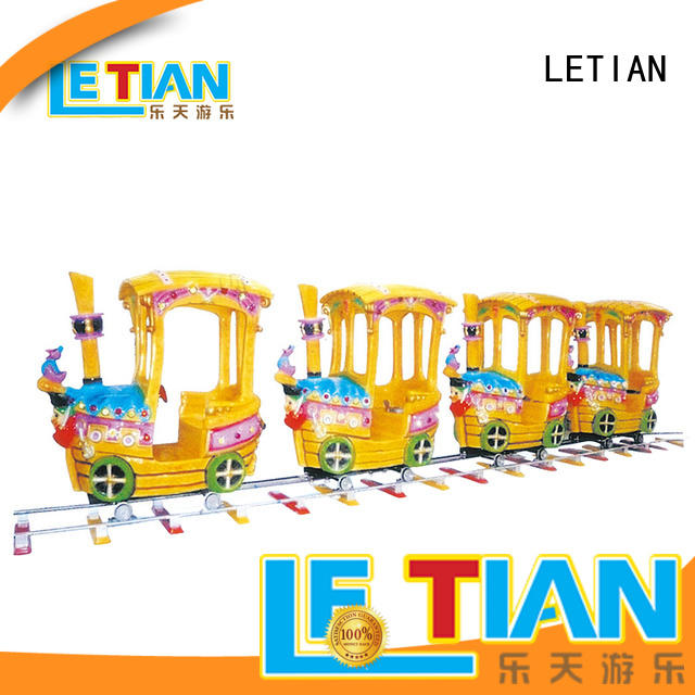 Kids amusement rides happy small 8 seats electric train for sale LT-7079A