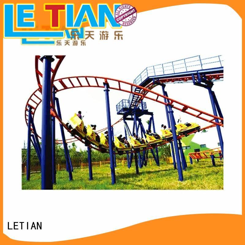 LETIAN beautiful roller coaster thrills seats theme park