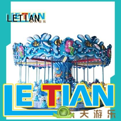 LETIAN fairground childrens carousel supplier fairground