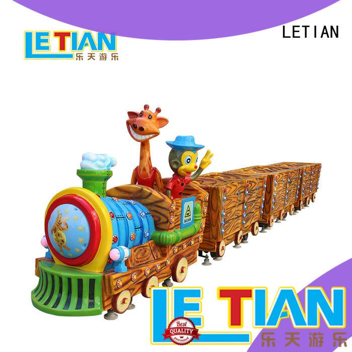 LETIAN small amusement park train rides manufacturer park playground