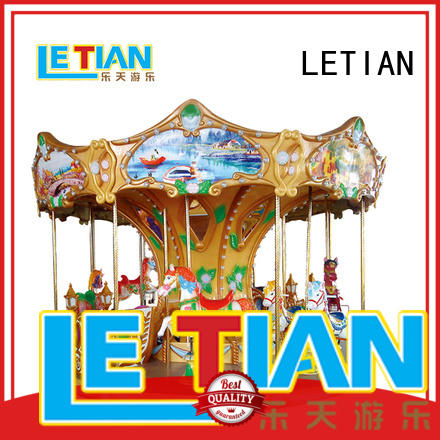 LETIAN colorful carousel for kids supplier fairground