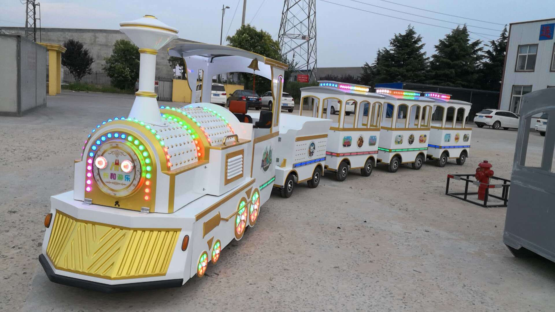 LETIAN jungle trackless train ride for business park playground-3