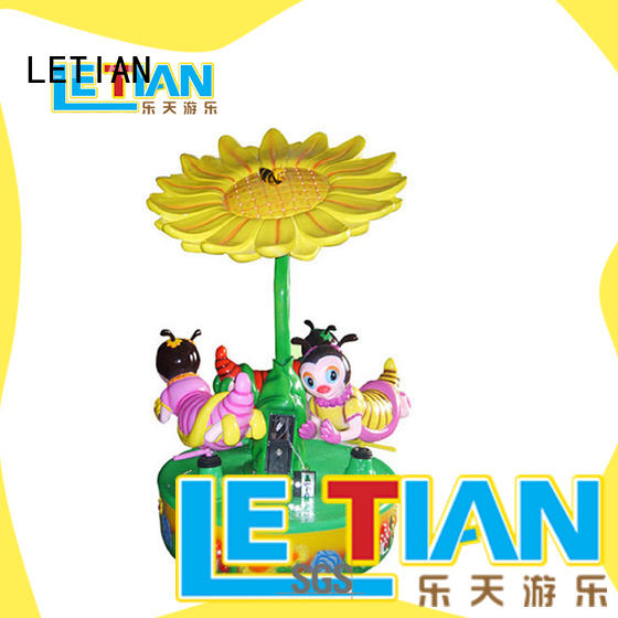 LETIAN reinforced small carousel for sale customized theme park