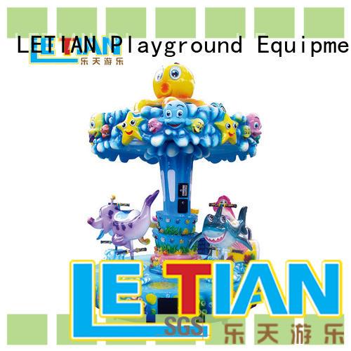 colorful mini carousel luxury fairground