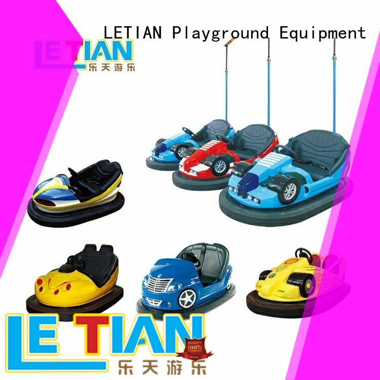 LETIAN made bumper cars ride with antenna amusement park