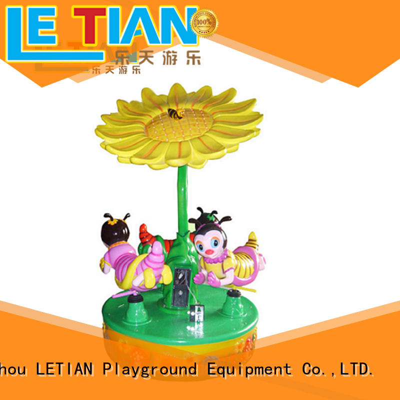 operated carousel ride for sale small theme park LETIAN