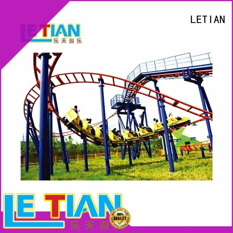 LETIAN beautiful roller coaster ride for kids theme park