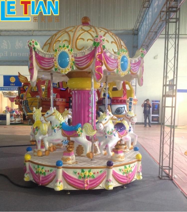 Kids 6 seats mini colorful Carousel ride for sale LT-7039D-1