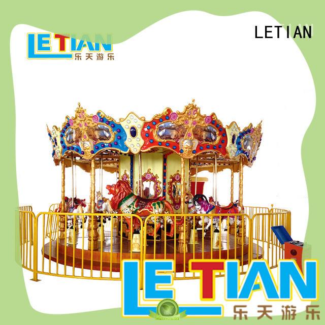 LETIAN fairground mini carousel customized carnival