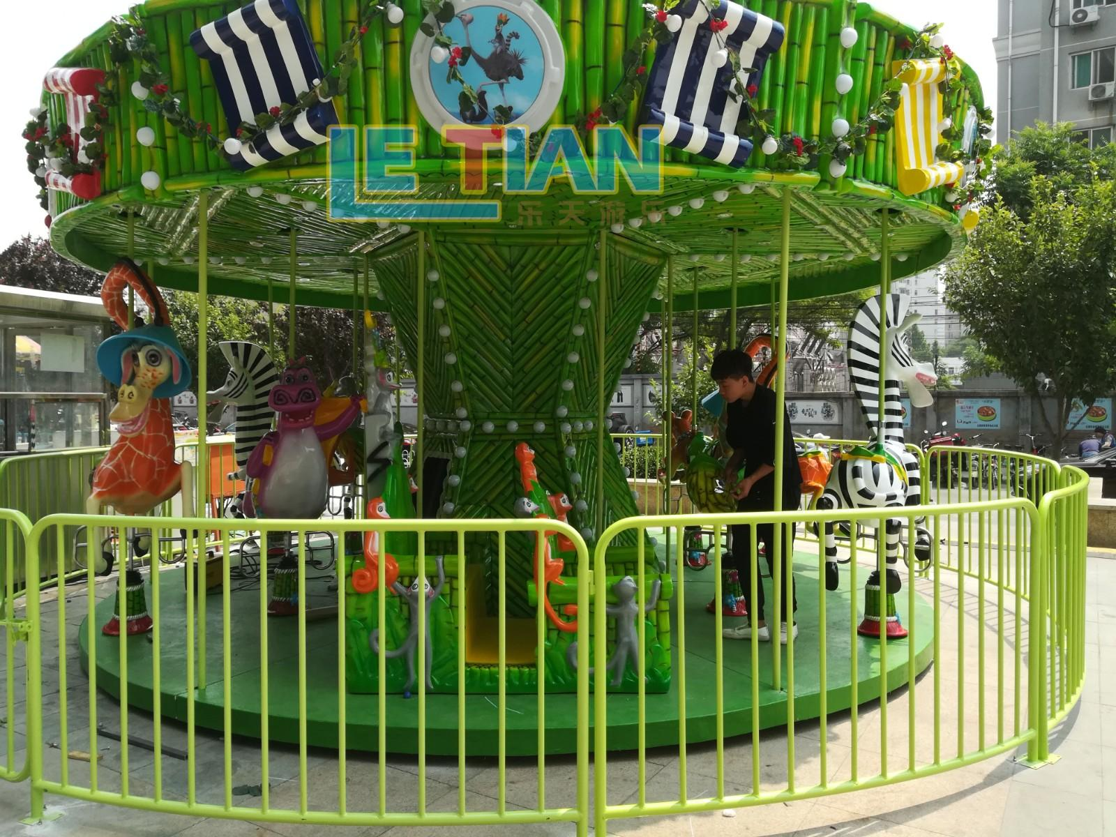 LETIAN luxury a children's carousel for kids theme park-3