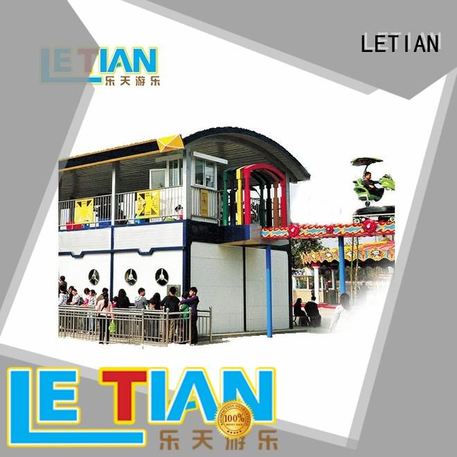 LETIAN dolphin roller coaster 4 game for kids mall