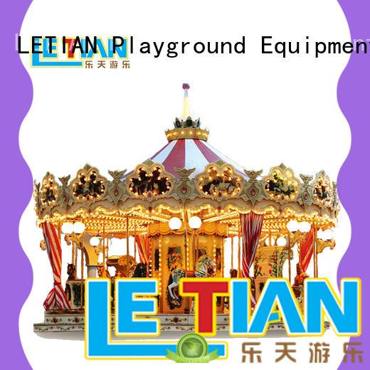 LETIAN ride mini carousel ride for sale customized theme park