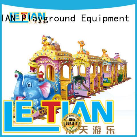 Kids new design elephant electric track train manufacturer LT-7078B