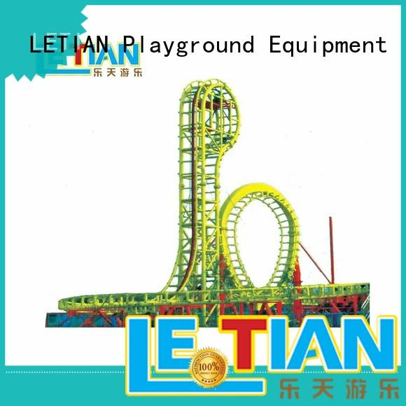 LETIAN mini create your own roller coaster online game factory mall