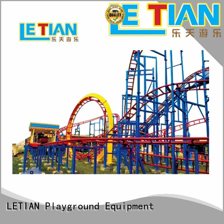 LETIAN can roller coaster ride video for children playground