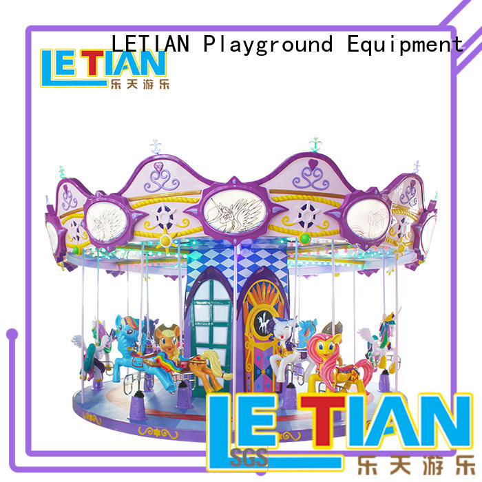 Wholesale mini carousel ride for sale outdoor for kids theme park